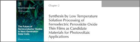 Chapter in book on the future of oxides in solar cells