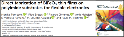Recent publication in J. Mater. Chem. C