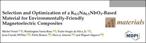 Publication on magnetoelectric composites