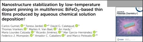 Collaboration in a new paper of Journal of Materials Chemistry C