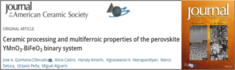 Publication on multiferroic YMnO3‐BiFeO3 ceramics