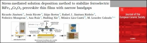 Recent paper on BiFeO3-based films with narrow bandgaps