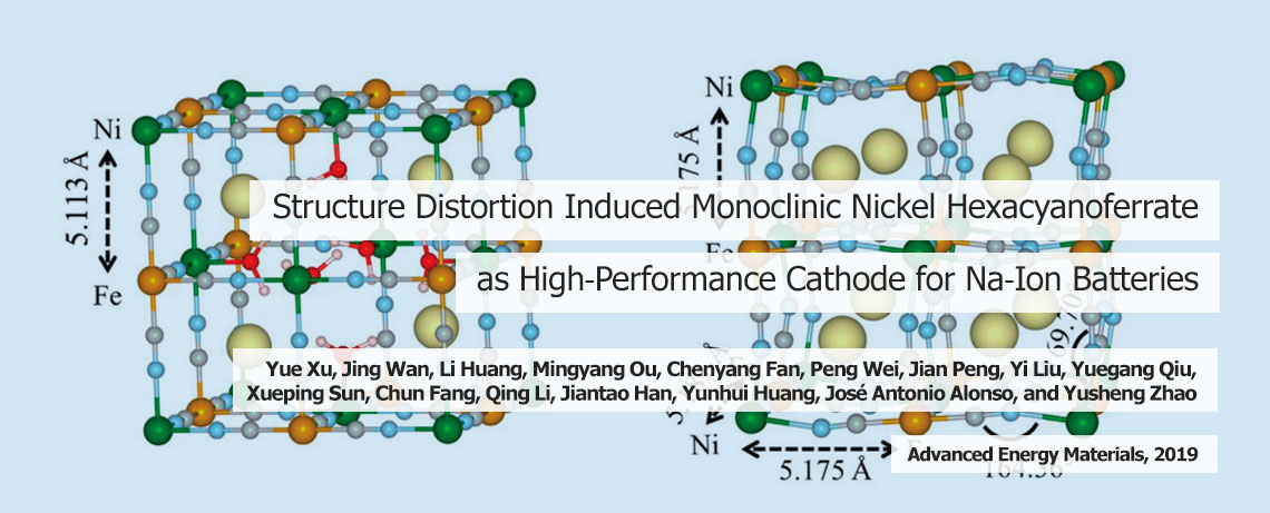 Structure Distortion Induced Monoclinic Nickel Hexacyanoferrate as High-Performance Cathode for Na-Ion Batteries